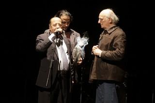 Enrique Carbonell y Luis Escudero homenaje a Carlos Saura en Huesca 2010