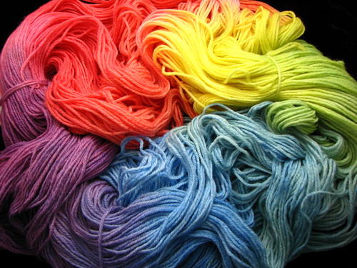 Rainbow BFL Worsted Yarn - 1 lb