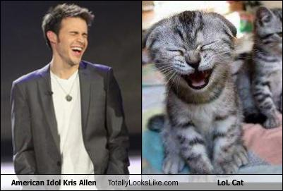 Kris Allen laughing smiling grinning like a kitty cat funny adorable lol