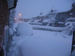 my car under snow