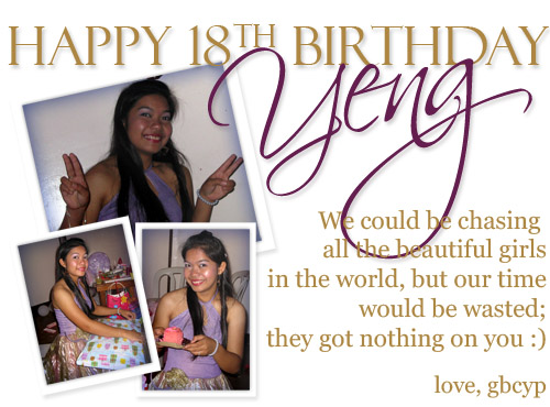 yeng 18th for flickr
