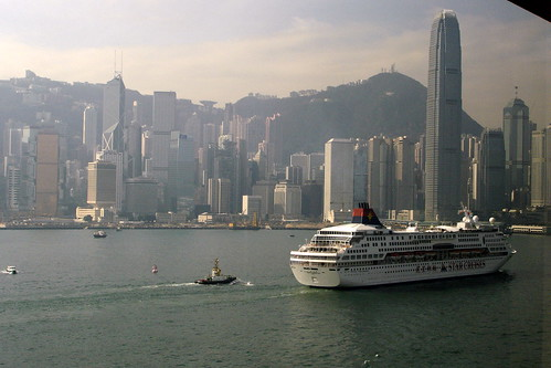 View of Victoria Harbour from Intercontinental Hong Kong