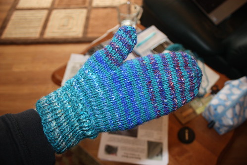 mittens Noro Silk Garden & Knit Picks Wool of the Andes