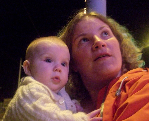 Bex and Poppy Sue watching the lights...