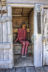 Outhouse in Four Mile Old West Town