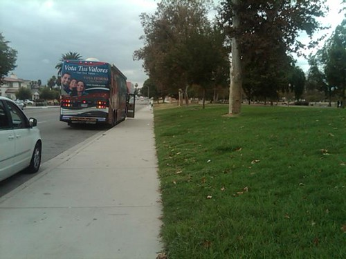 Minutes before the stop in San Bernardino and no one there