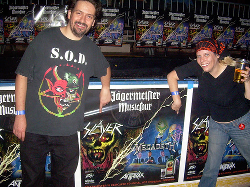 20101006 - Anthrax-Megadeth-Slayer concert - 0 - Clint, Carolyn - tour poster - (by Debbie) - 5073515448_65b9f7f5a6_b