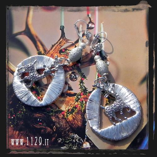 LMRENN orecchini renne natale christmas reindeer earrings 1129
