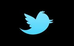 Twitter, new logo twitter, twitter logo, twitter emblem, blue twitter, black background twitter,
