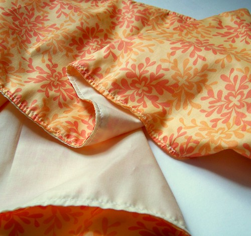 handmade gift - orange cotton voile scarf