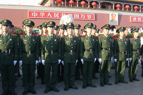 Soldiers at Tian'anmen Square