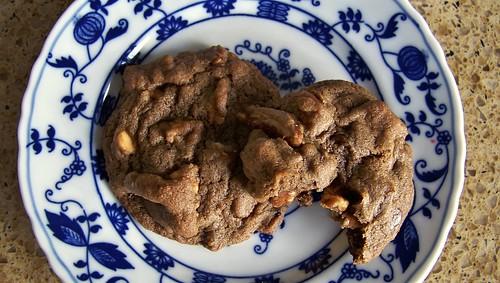 Cocoa-Caramel-Pecan Cookies