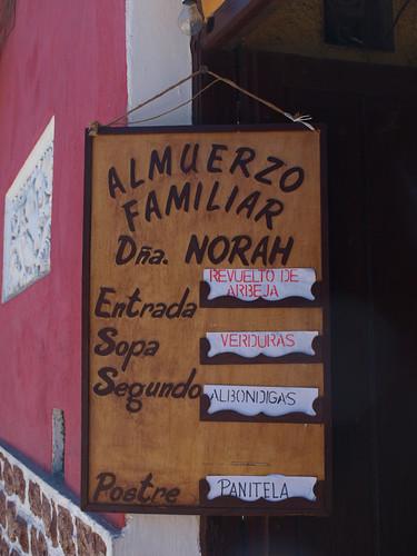 Bolivia: Almuerzos