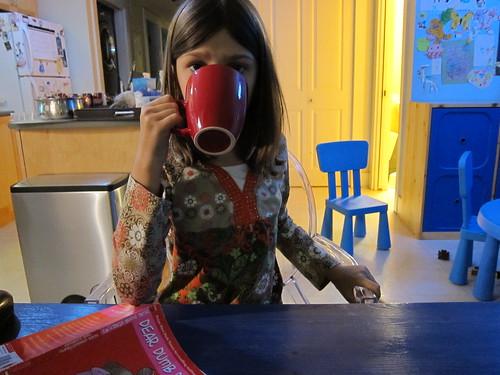 Sym + Nutella Hot Chocolate = :D