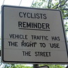 Cyclist Slap Down Sign