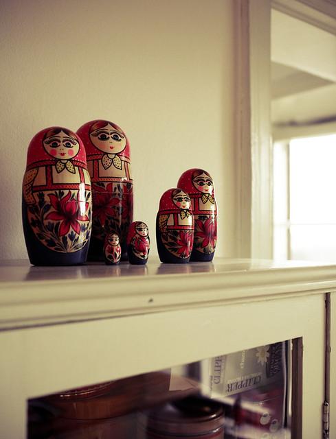 matrjosjkas in my kitchen