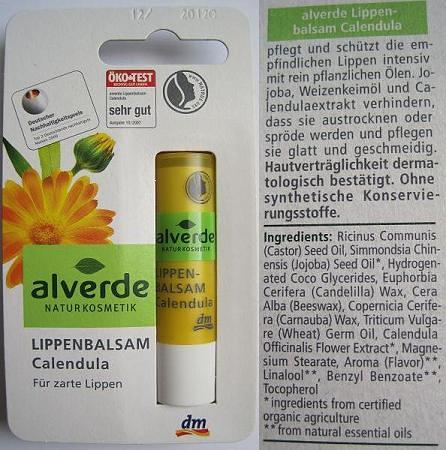 Alverde Lip Balm Calendula1