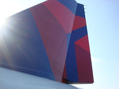 Delta A319 rudder - La Guardia Airport Kiwanis Kid's Day 2010 / Darlyn Perez