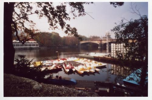 Paddleboats on Vltava River