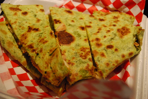 Chicken and bacon quesadilla