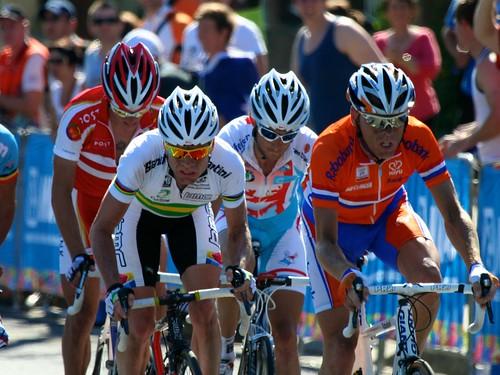 Evans, Schleck and Moerenhout