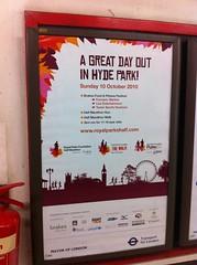 Royal Parks Half Marathon poster