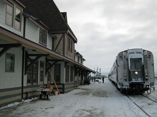 Train at Churchill VIA Rail station