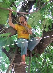 Heather picking figs