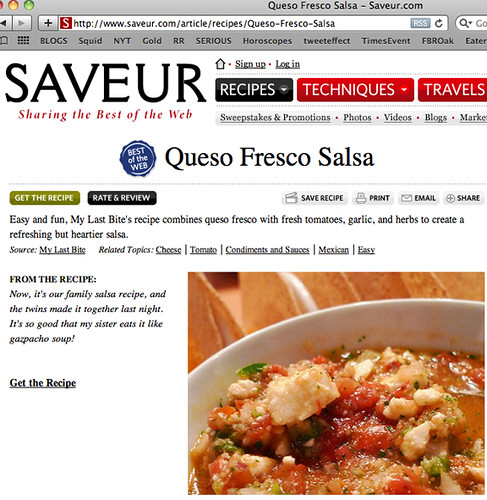Thanks Saveur Magazine!