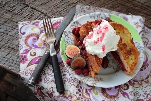 Fresh Fig and Raspberry Stuffed French Toast