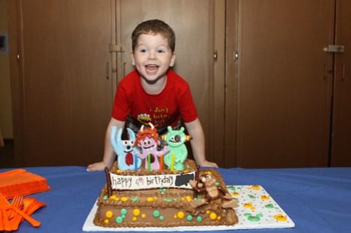 monkey's 4th birthday cake
