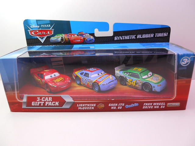 DISNEY CARS RUBBER TIRE RACER 3 PACK K MART (1)