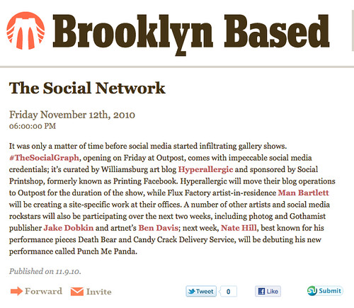#TheSocialGraph's first blurb via BrooklynBased.com
