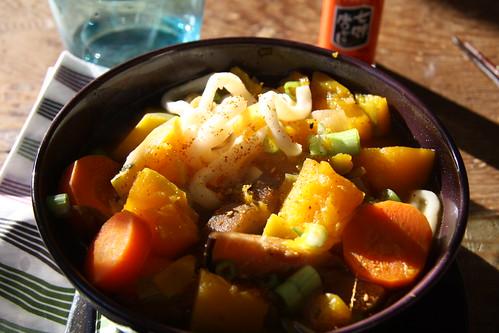 Kabocha-Udon Winter Stew