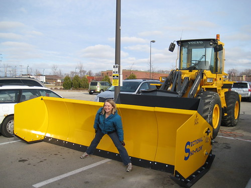 Huge snow plow and me