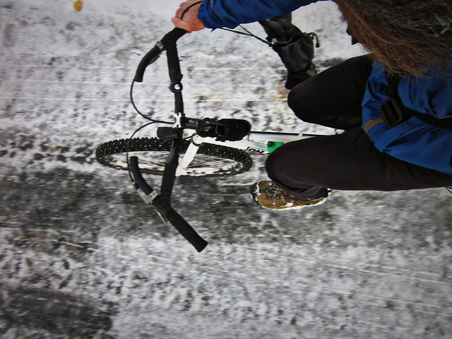 First Snow Commute of the Winter