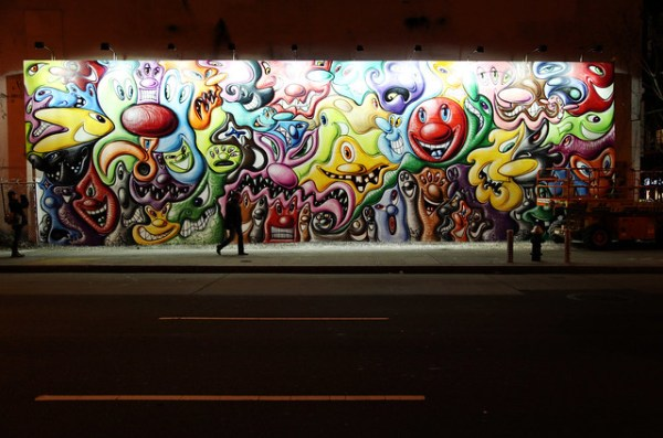 Kenny Scharf Houston Street Mural