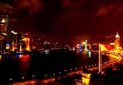Notte luminescente a Shanghai