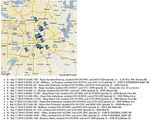 Dallas crime static map demo