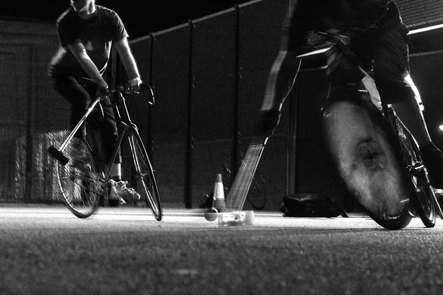 Birmingham Bike Polo in the dark