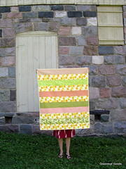Striped lemons quilt