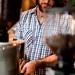 Lowdown Espresso Adam grinding
