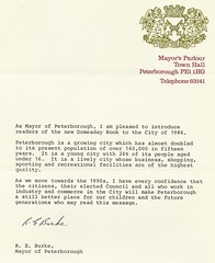 Mayor of Peterborough's Letter