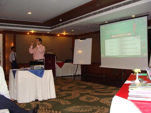 Ranjit K Sharma conducting the sales presentation
