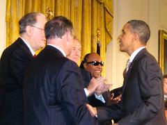 President Barack Obama congratulating legislat...