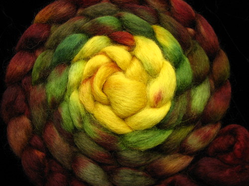 Follow the Yellow Brick Road - Wensledale Wool Top Hand Dyed