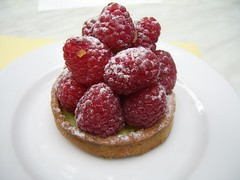 Raspberry tart from Les Magots, Paris