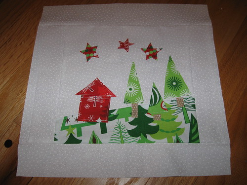 Christmas landscape block