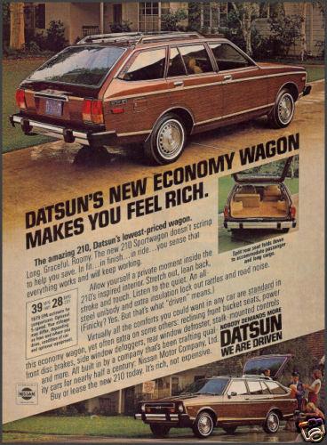 1979 Datsun 210 wagon Ad