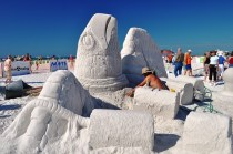 Siesta Key Crystal Classic Master Sandsculpting Competition, Nov. 20, 2010: SeaTurtle